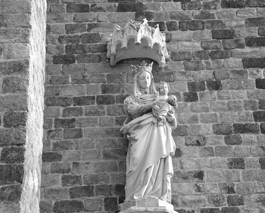 Statue, Holy Virgin, Mary Jesus, Religious Figure