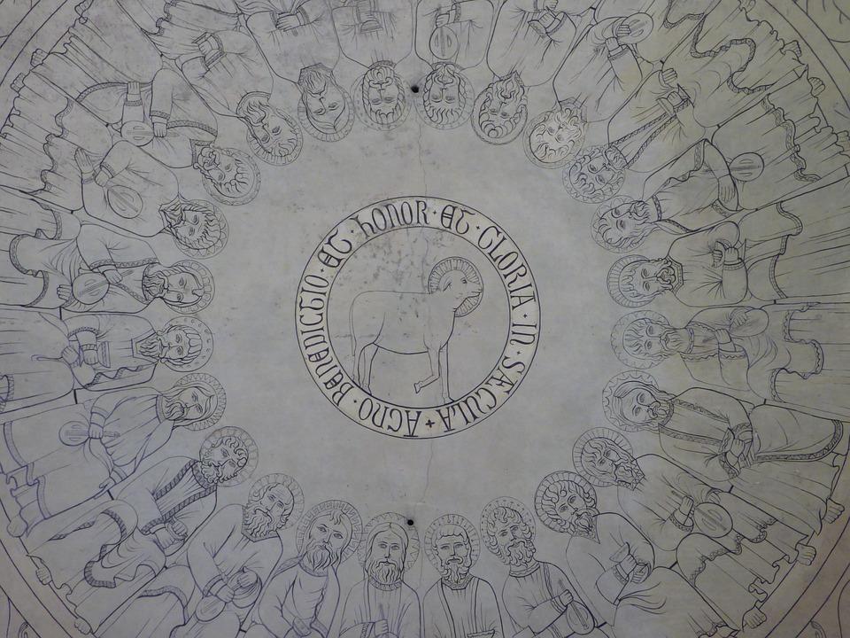 Religious Fresco, Ceiling, St Wolf Naud