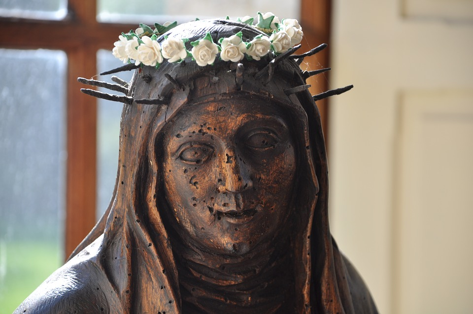 Sainte, Statue, Wood, Religion, Church, Religious