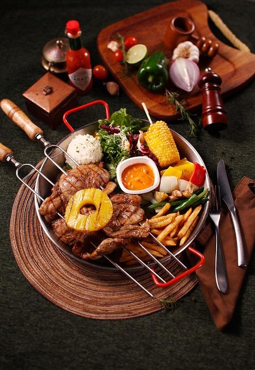 Restaurant, Relishes, Fork, Plate, Food, Snacks, Cafe
