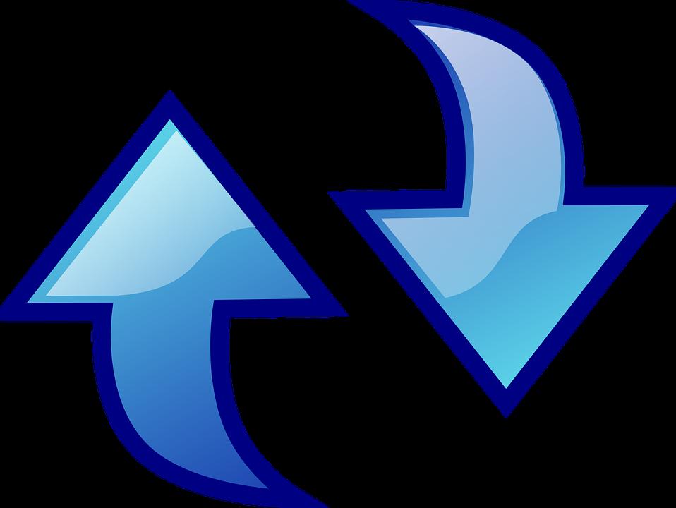 Reload, Arrows, Refresh, Blue, Sign, Symbol, Icon