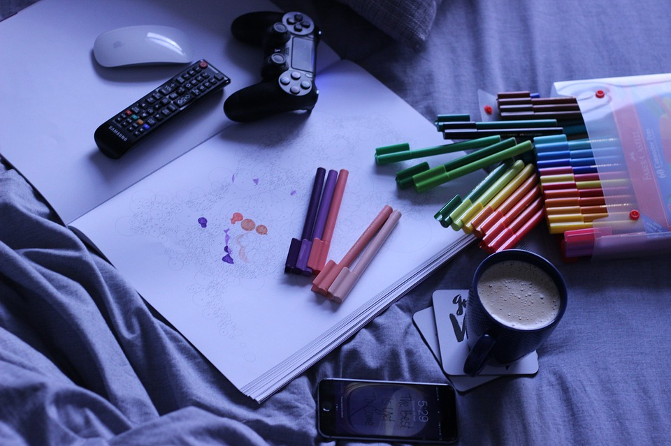 Coloring Pens, Mouse, Drawing, Art, Remote Control