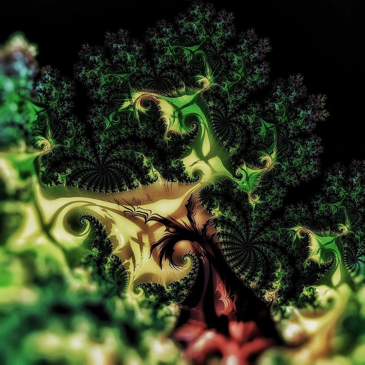 Fractal, Cauliflower, Green, Rendered