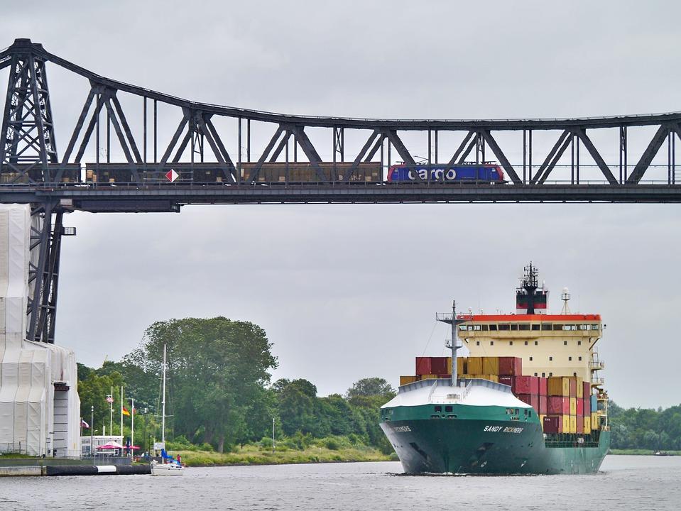 Cargo, Freighter, Railway, North America, Rendsburg