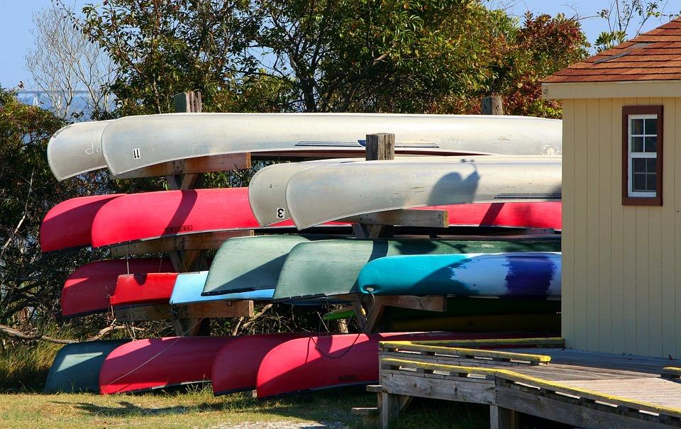 Free photo Rent Recreation Summer Boathouse Boats Canoes