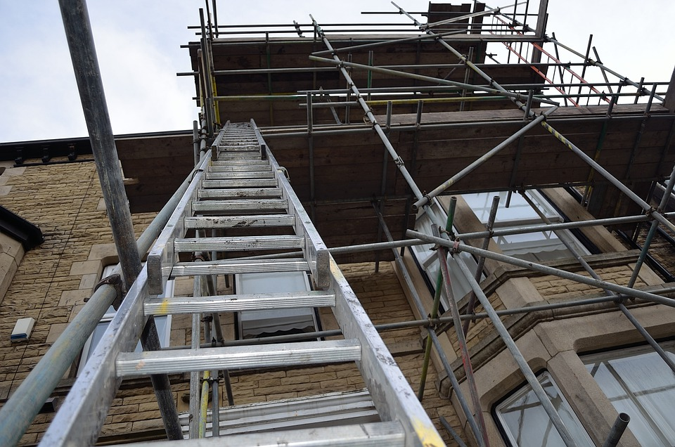 Ladder, Scaffolding, Architecture, Construction, Repair