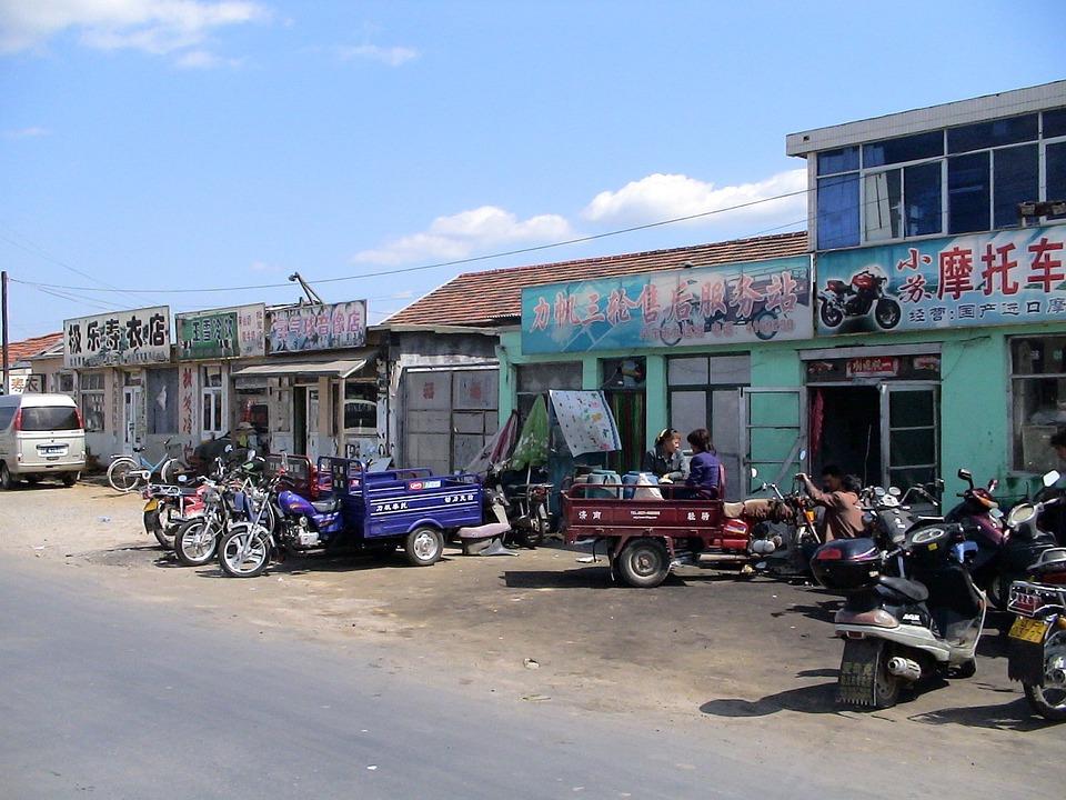 Vehicles, Repair, China, Dandong, Dilapidated, Run Down