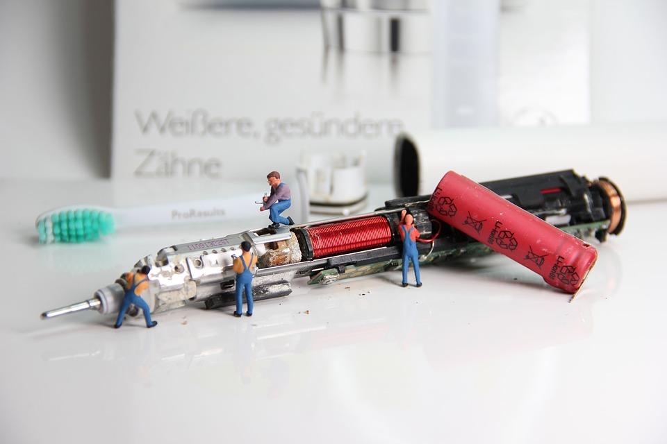 Toothbrush, Repair, Miniature Figures, Dental Care