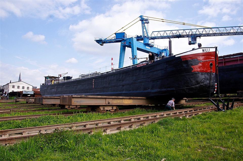 Ship, Water, River, Kahn, Shipyard, Repair, Port