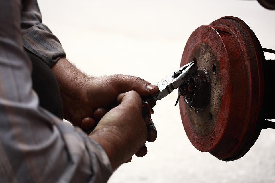Repairman, Pliers, Worker, Labor, Paint, Oil, Dirt