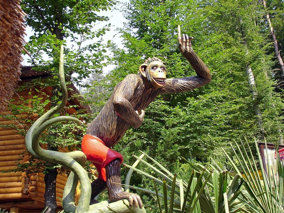 Monkey, Theme Park, Safari, Replica, Sculpture