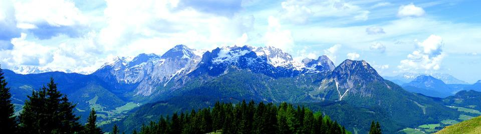 Panorama, Tennengebirge, Mountains, Reported, Clouds