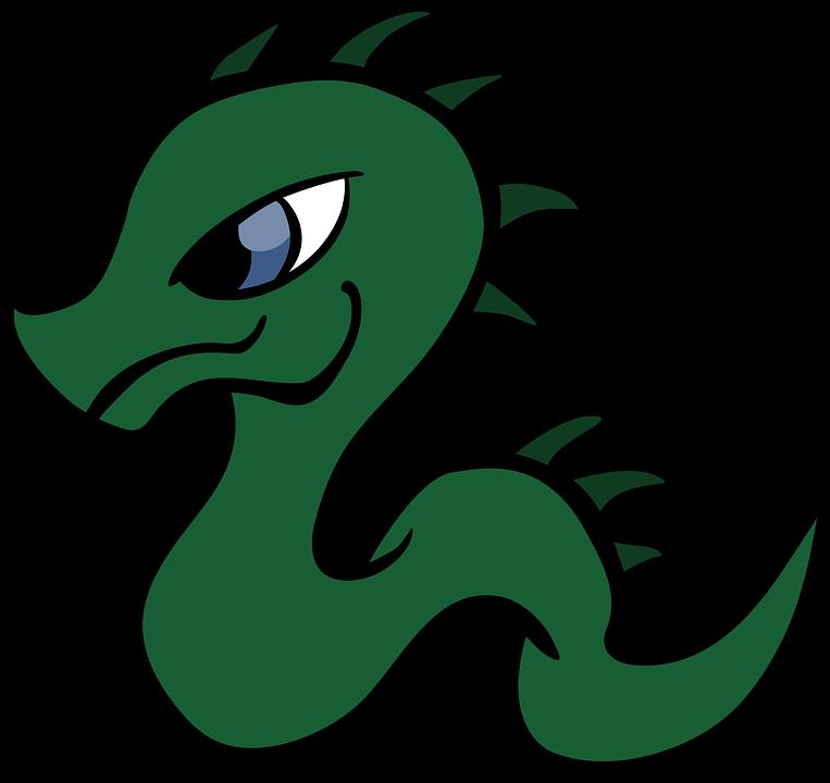 Dragon, Cartoon, Reptile, Snake, Baby