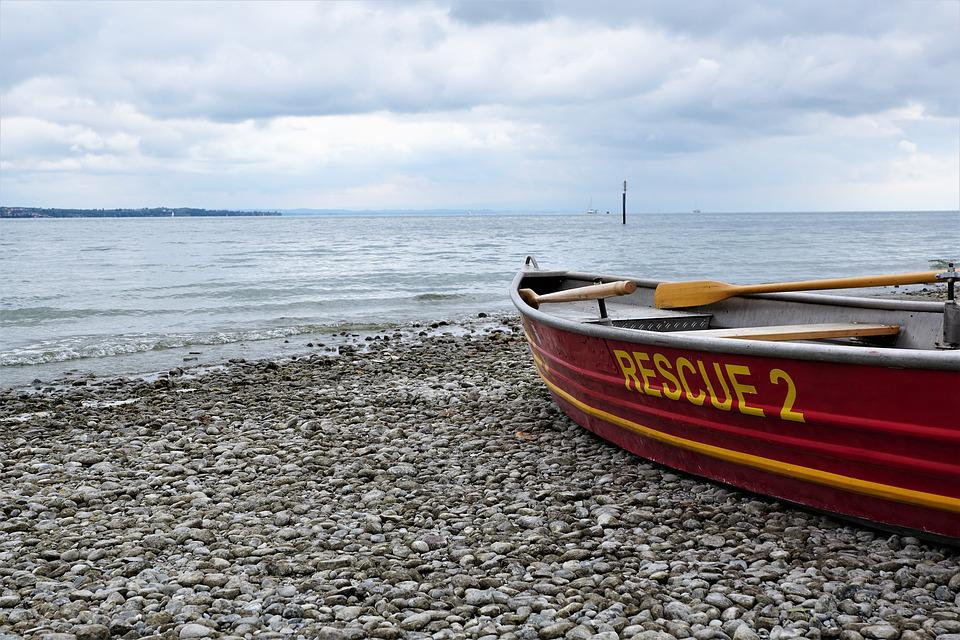Boat, Travel, Lake Constance, Water, Rescue