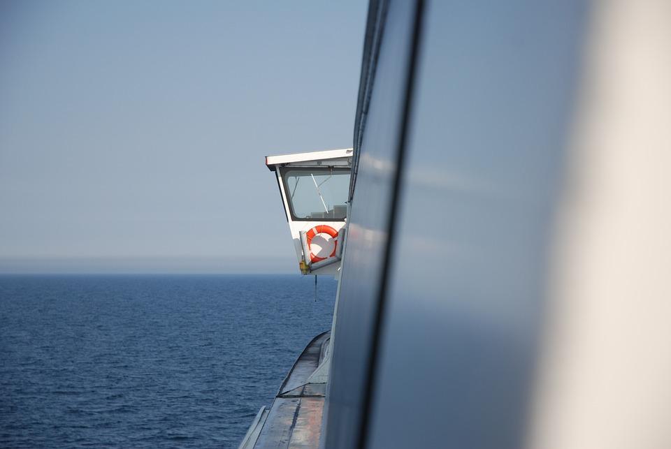 Ferry, A Life-belt, Lifesaver, Rescue, Ship, Security