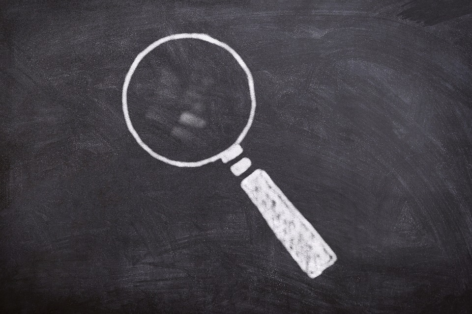 Board, Chalk, Magnifying Glass, Symbol, Research