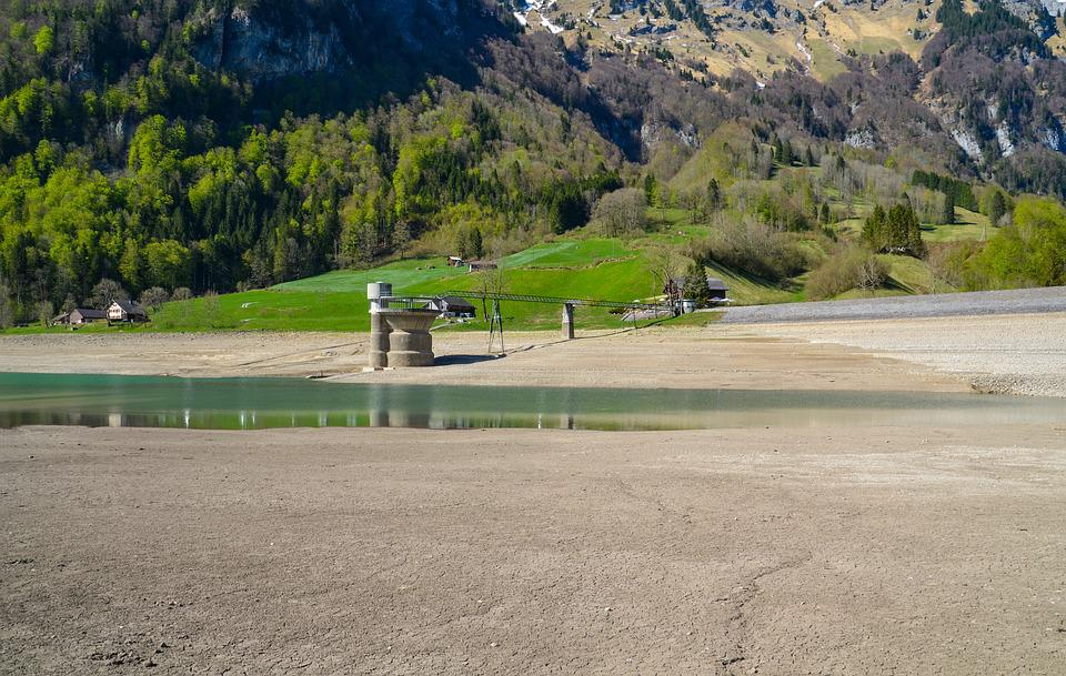 Drought, Dry Season, Dehydrated, Reservoir, Bergsee