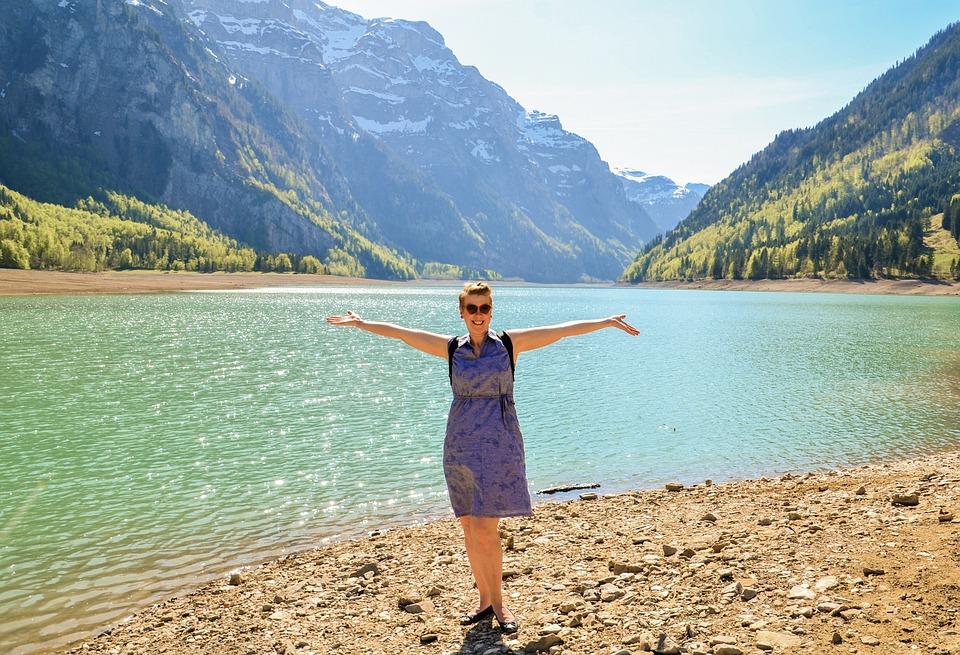 Lake Klöntal, Bergsee, Reservoir, Switzerland, Holidays