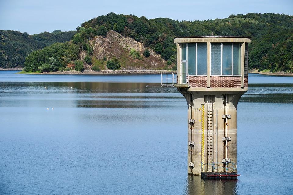 Dam, Reservoir, Water Withdrawal Tower, Drinking Water