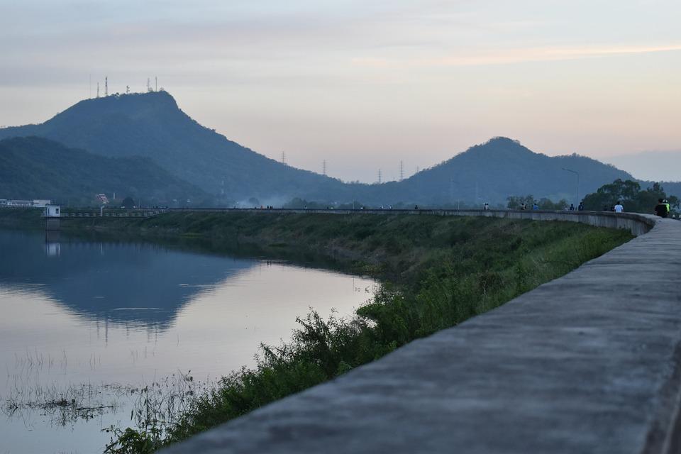 Bang Phra Reservoir, Reservoir, Dam, Nature, Thailand