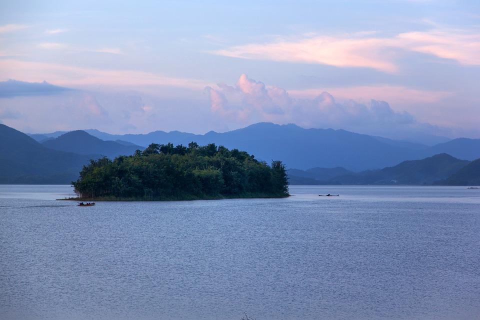 The Island, Reservoir, Evening, Dam, The National Park