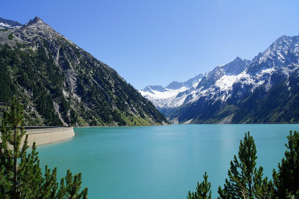 Zillertal, Tyrol, Mountains, Reservoir, Water Power