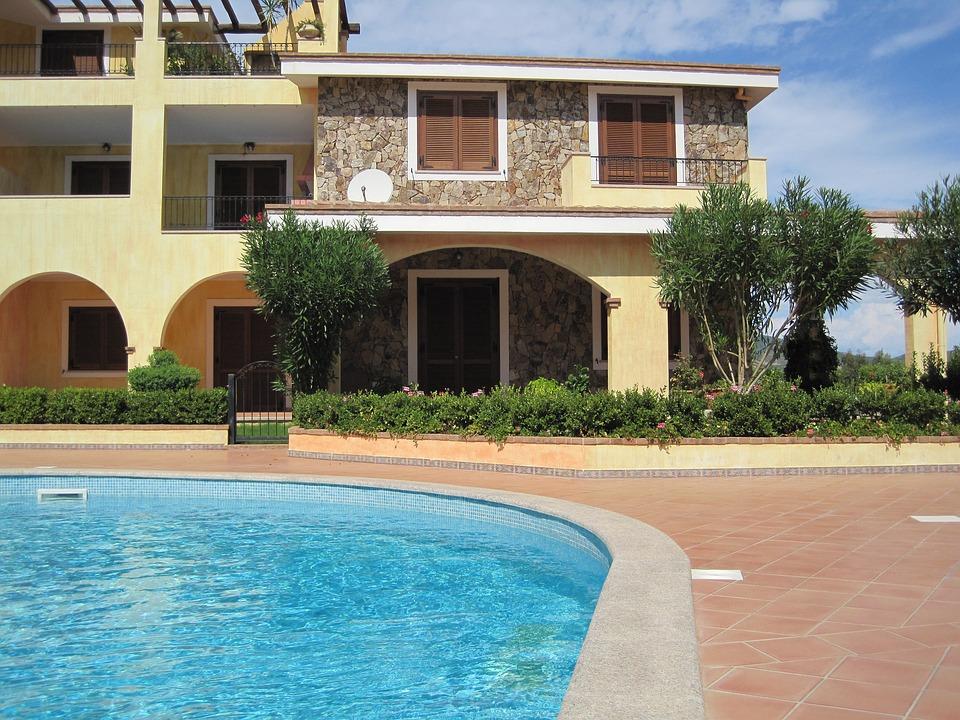 Pool, Holidays, Summer, Sun, Residence