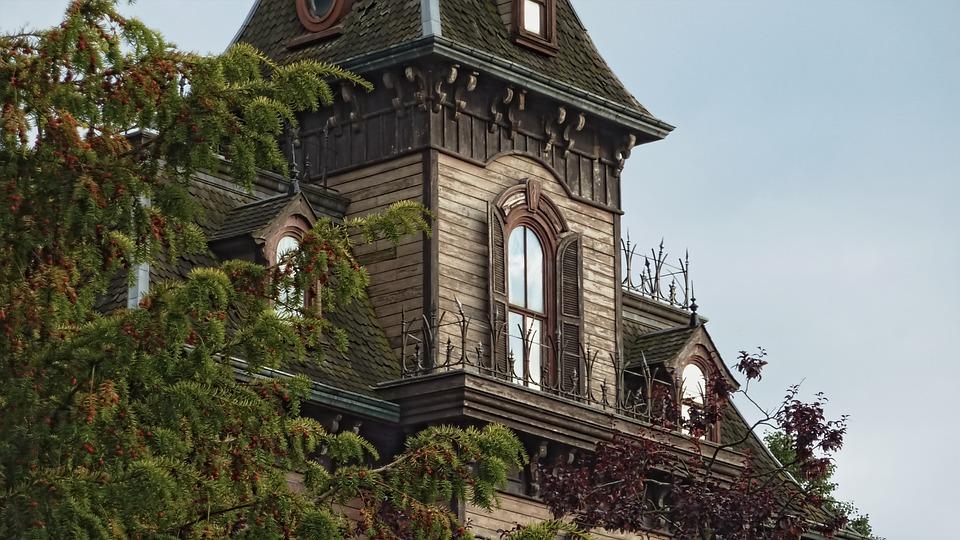 House, Disneyland, Mansion, Building, Residential