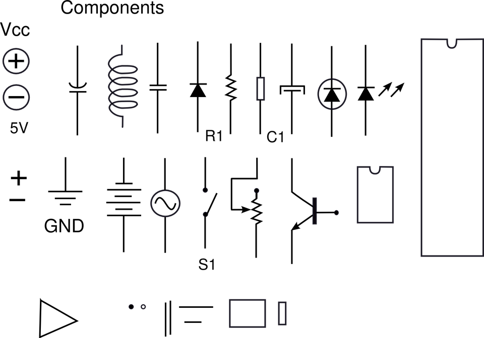 Electrical, Components, Resistors, Capacitors