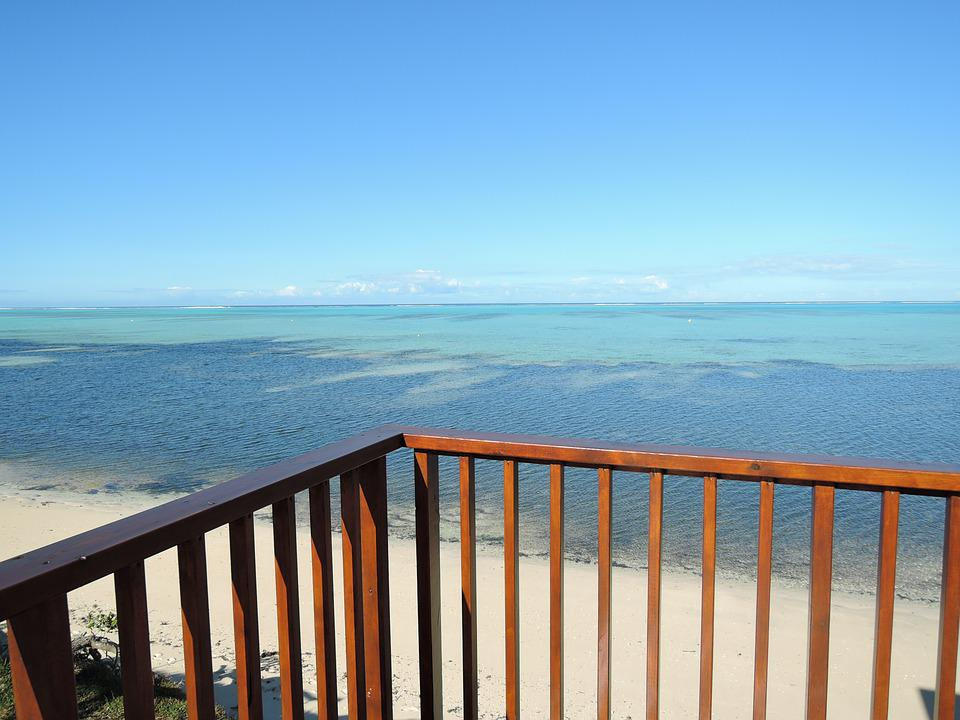 Balcony, Lagoon, Blue, Blue Sky, Resort, Pacific Ocean