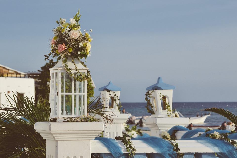 Sea, Ocean, Beach, View, Resort, Wedding, Venue, Flower