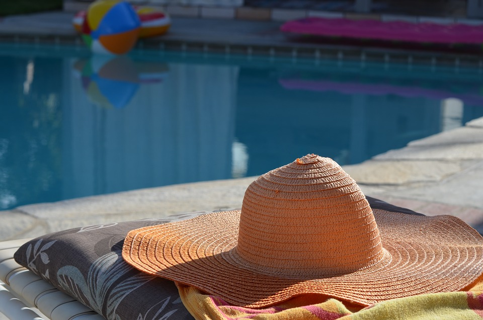 Sun Hat, Resort, Swimming Pool, Sun, Hat