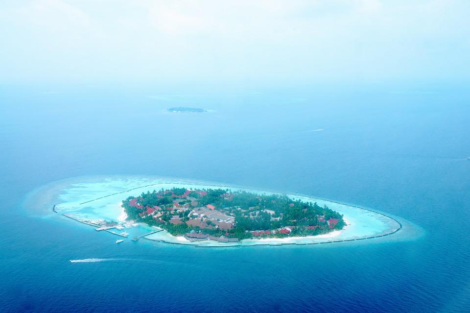 Maldives Island Blue Water Resort Sea Beach