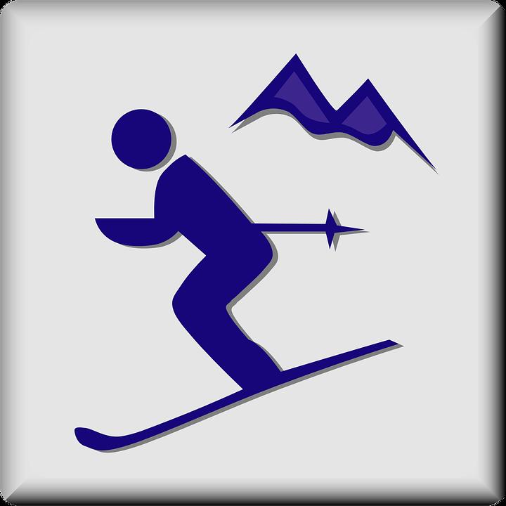 Skiing, Area, Ski, Sign, Symbol, Icon, Alpine, Resort