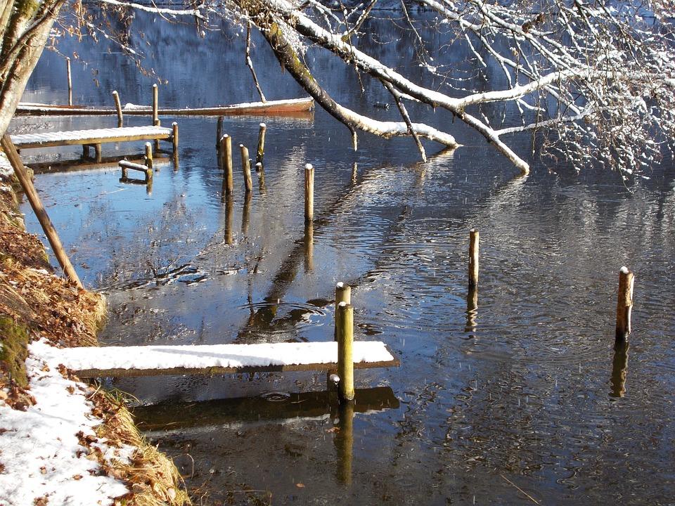 Web, Lake, Bank, Winter, Atmospheric, Rest, Idyll