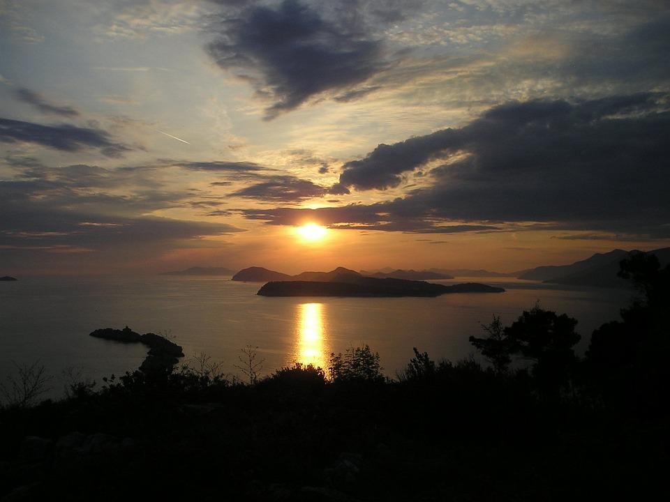 Sunset, Croatia, Sea, Islands, Rest