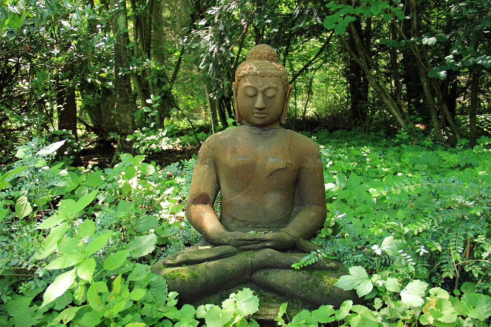 Buddha, Rest, Stone, Recovery, Nature, Green