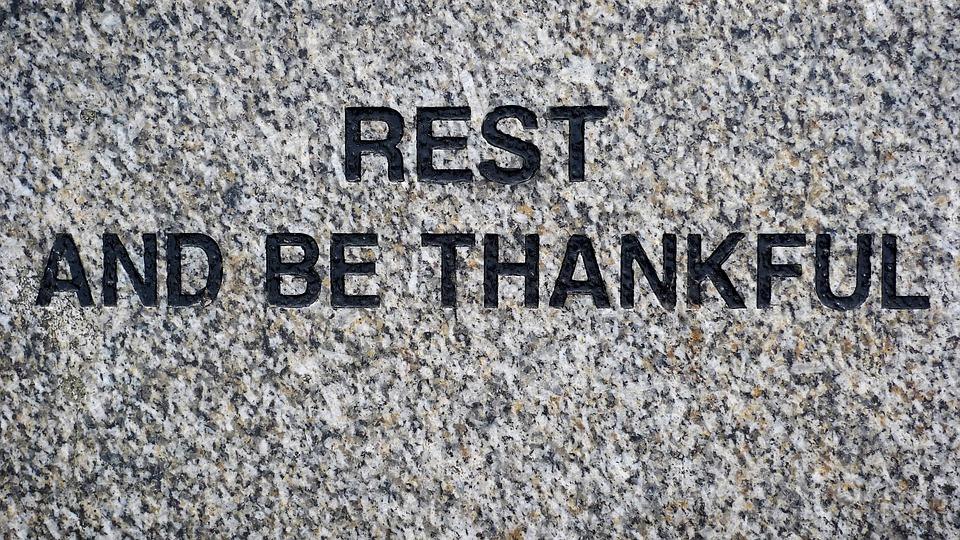 Rest, Thankful, Peace, Thanks, Quiet, Pause, Stop, Wait