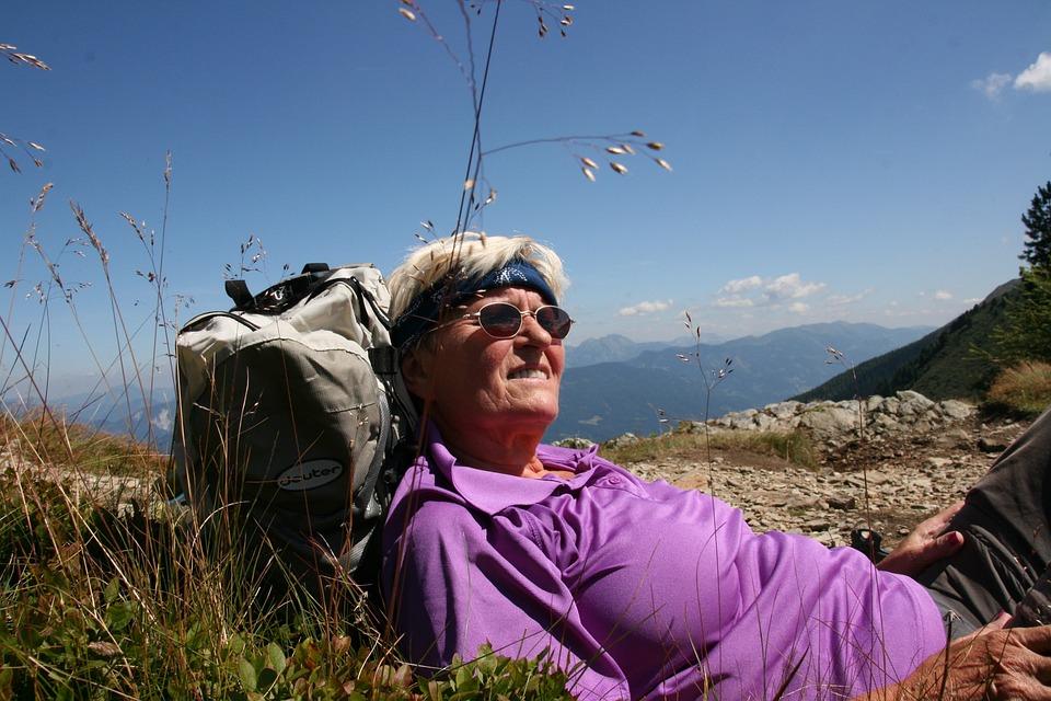 Hiking, Break, Mountain Walking, Rest, Woman