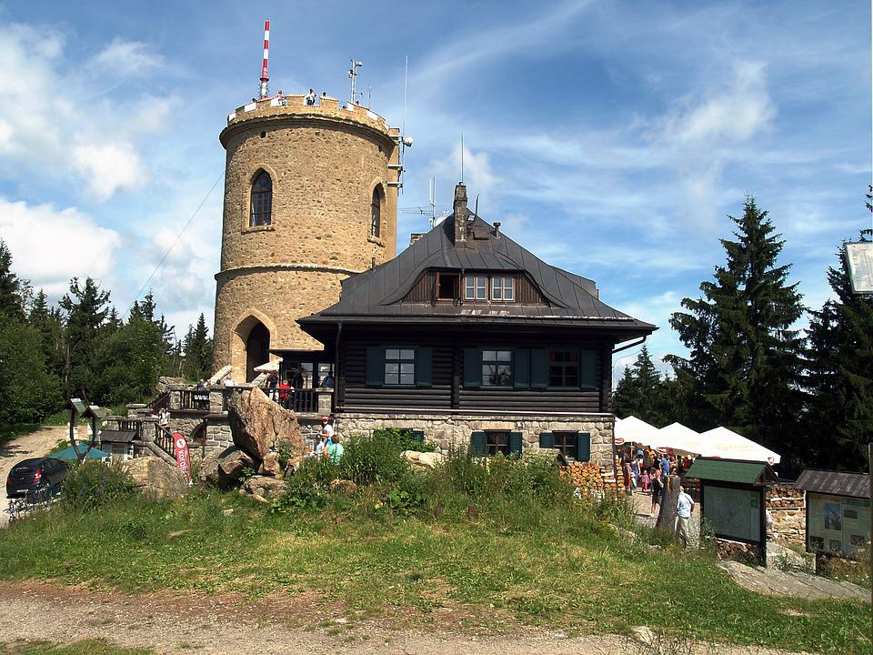 Lookout, Monument, Mountains, Kleť Hill, Restaurant