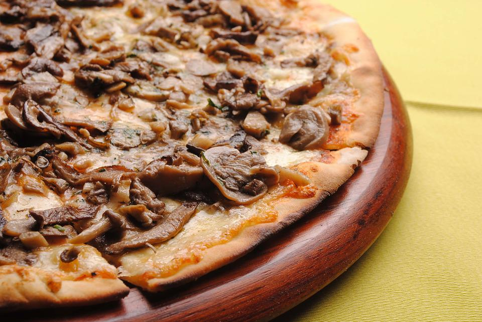 Pizza, Mushrooms, Tomato, Food, Mushroom, Restaurant