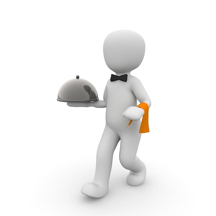 Waiter, Restaurant, Gastronomy, Tray, Upper, Operation