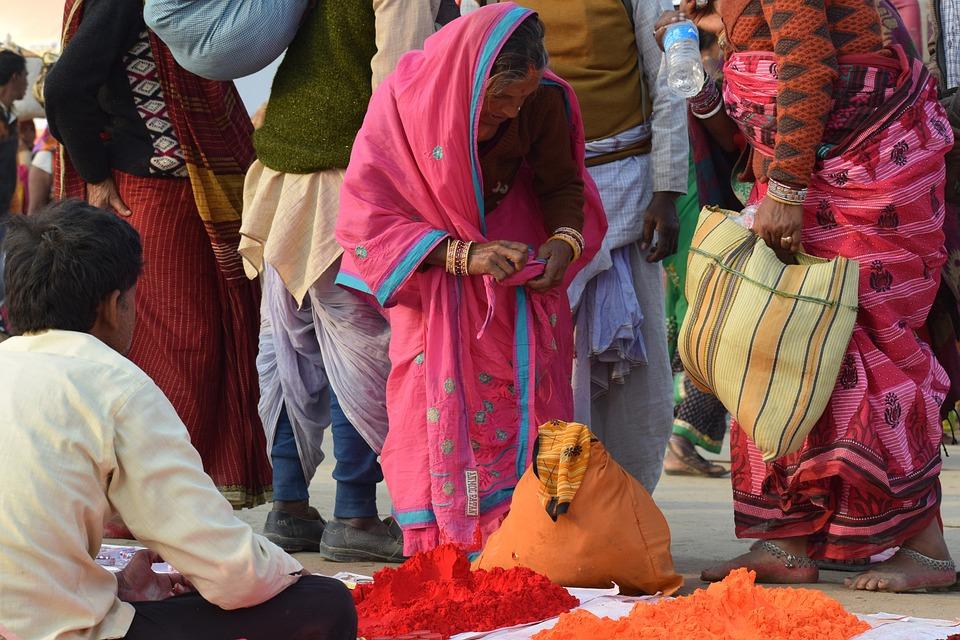 Colors, Selling, Retail, Vendor, Market, Woven