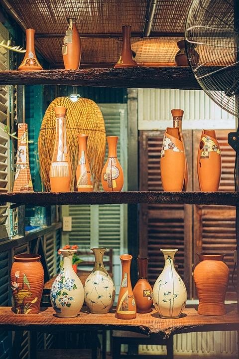 Jug, Jar, Vase, Ceramic, Retro, Antique, Vintage