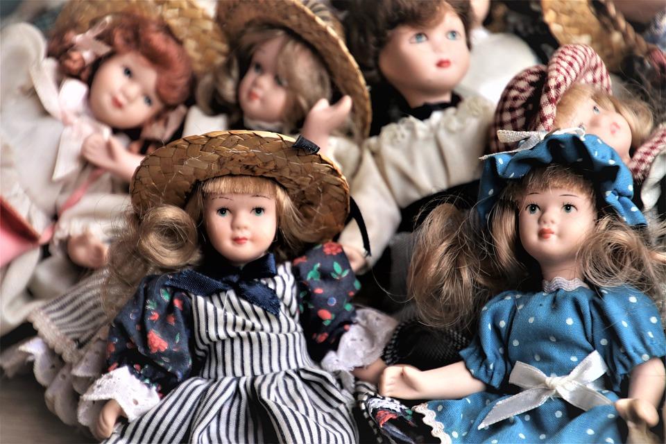 Porcelain Dolls, Retro, Accessories, Toy, Antiques