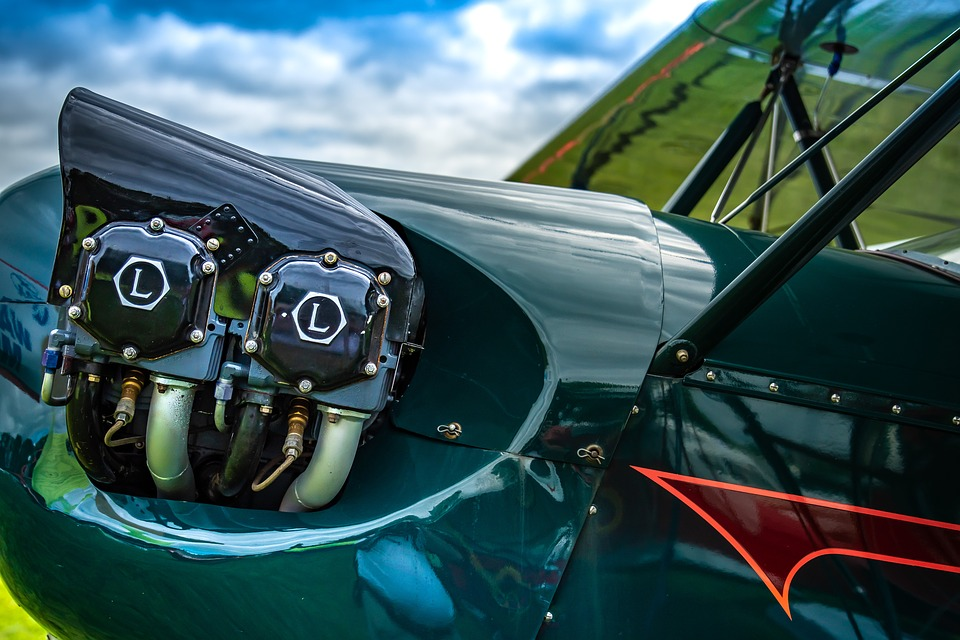 Engine, Vintage, Aviation, Plane, Restored, Retro, Old
