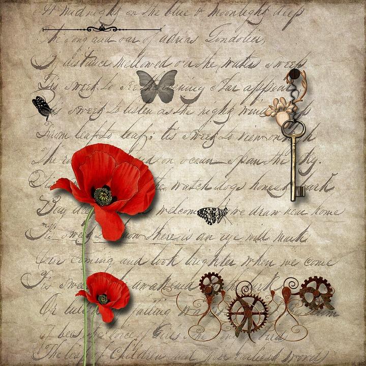 Background, Old, Vintage, Retro, Texture, Poppy, Key