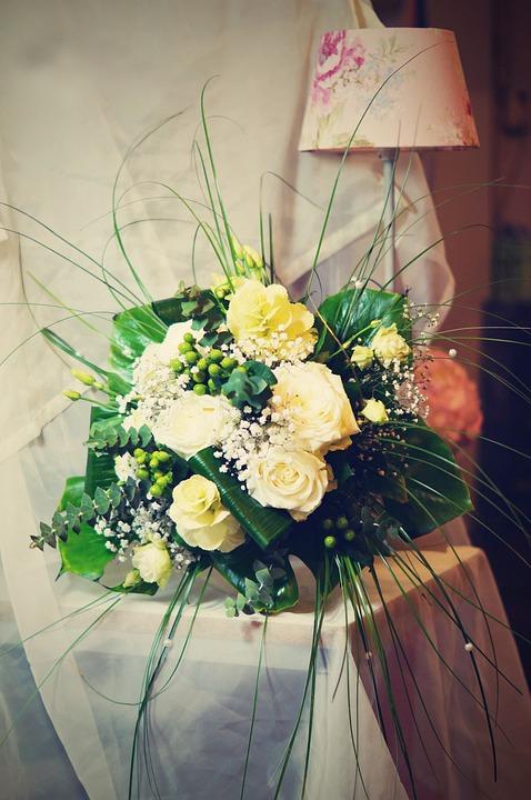 Flower, Rose, Lamp, Retro, Bouquet