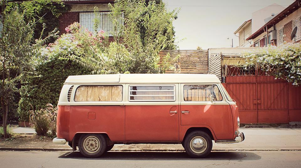 Camper, Van, Bus, Hippie, Camping, Retro, Auto, Vehicle