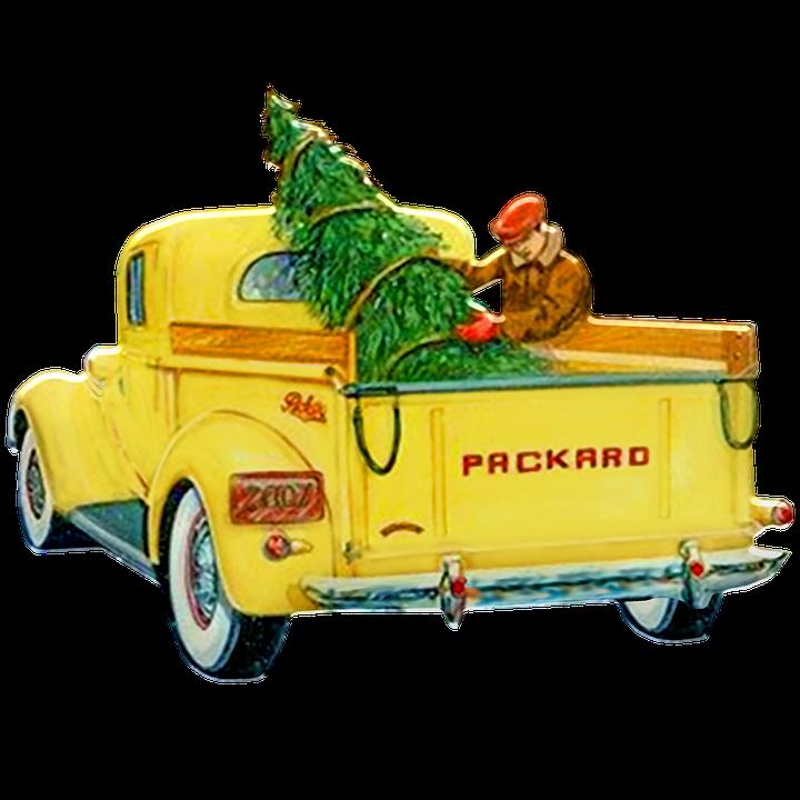 Christmas Truck, Retro Christmas, 1950s